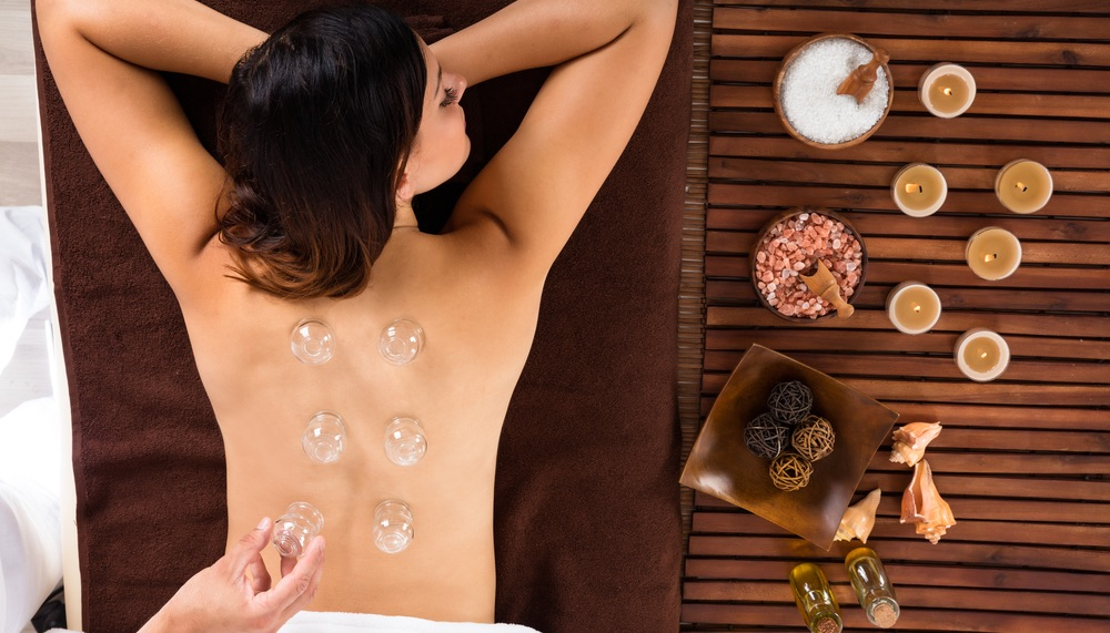 Massage with suction cups